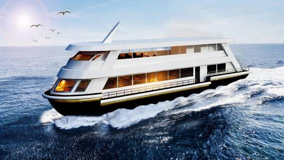 3D DESIGN (ARTISTIC IMPRESSION) OF PROPOSED CRUISE VESSEL