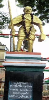 Statue of Gandhiji in Madurai, where he first appeared in public with loin cloth attire