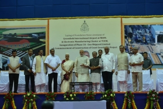 PM lays foundation stone for development projects in Goa