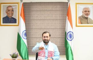 Information & Broadcasting Minister Prakash Javadekar launched 'DD Assam 24x7' channel, through video conference, in New Delhi on August 04, 2020