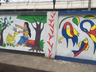 Wall Paintings Add To Swachh Bharat Abhiyan Mera Bharat Mahan