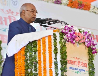 President of India launches Swachhta hi Seva Campaign
